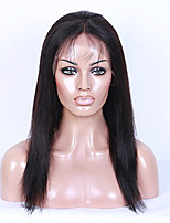 100% Unprocessed Natural Color Kinky Straight Brazilian Virgin Hair Human Hair Wig Full Lace Wig