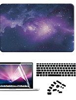 Star Night PVC Hard Case with Anti-Dust Plug and Screen Film for Macbook Air 11.6 Pro 13.3 15.4 Retina
