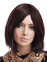 Brown Color Short Straight European Synthetic Wigs Capless For Afro Women