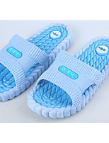 Damen-Slippers & Flip-Flops-Lässig-PVC-Flacher Absatz-Komfort-Blau / Rosa / Hellgrün