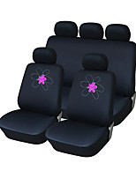 AUTOYOUTH  Interior Accessories Universal Car Seat Covers Polyester Embroidery Car Covers Car Accessories (9 Pieces)