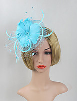 Women's Feather / Net Headpiece-Wedding / Special Occasion Flower Fascinators 1 Piece