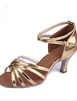 Women's Heels Spring Fall Leather Outdoor Casual Stiletto Heel Lace-up Brown Silver Gold Other