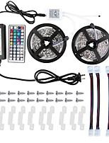 KWB 2 * 5M 5050 RGB ha condotto le luci di striscia kit impermeabile con regolatore di IR 44key e 12v alimentazione 6a