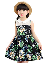 Girl's Casual/Daily Print DressOthers Summer Black / White