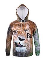 Inspired by 3D Animal Lion Bitch Long Sleeve Hoodie Cosplay Hoodies Print  Long Sleeve Coat Clothing Round Halloween