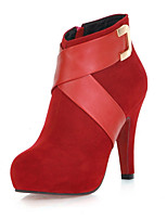 Women's Boots / Fall / Winter Platform / Fashion Boots Leatherette / Casual Stiletto Heel Black / Pink / Red Others