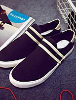 Черный-Мужской-На каждый день-Полотно-На плоской подошве-Удобная обувь-Мокасины и Свитер