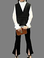 Girl's Casual/Daily Solid Clothing SetCotton Spring / Fall Black / White