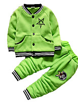 Boy's Casual/Daily Print Clothing SetCotton Winter Blue / Green / Red / Gray