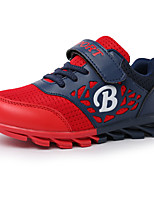 Boy's Athletic Shoes Spring / Fall Comfort PU Casual Flat Heel  Black / Red Sneaker
