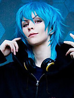 Dramatical Murder Halloween Cosplay Wig Short Straight Silver With Blue Synthetic Wigs Tsurumaru Kuninaga Anime Wigs