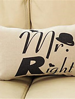 1 pcs Cotton/Linen Pillow CaseNovelty / Graphic Prints / Quotes & Sayings Traditional/Classic / Modern/Contemporary