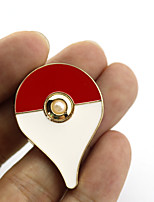 Jewelry Inspired by Pocket Monster PIKA PIKA Anime Cosplay Accessories Brooch Golden Alloy Male / Female