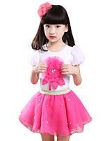 Girl's Casual/Daily Solid Clothing SetCotton / Modal / Polyester Summer Blue / Pink / Purple