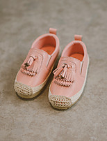 Girl's Loafers & Slip-Ons Fall Flats Suede Casual Flat Heel Magic Tape Black Pink White Walking