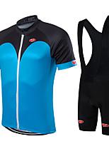 Deportes® Maillot de Ciclismo con Shorts Bib Hombres / Unisex Mangas cortasTranspirable / Secado rápido / Cremallera delantera / Listo