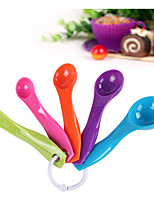 Scale Combination Spoon  With Five Sets Of Plastic Teaspoon Grams Of Milk Powder Seasoning Spoon Plastic Spoon