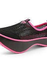 Dames Sportschoenen Lente / Zomer / Herfst Sleehak / Platform Tule Informeel / Sport Hak Instappers Zwart / Grijs Sneakers