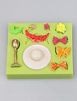 Bowknot shape silicone cake mold christmas decoration silicone cake mold wholesale
