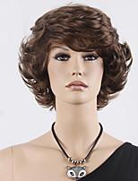 perruque courte ondulés marron synthétique de mode de vente pour dame sexy perruques synthétiques