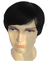 Human Hair Full Wigs Man Short Hair Wigs Straight Hair Men's wig