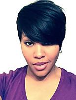 kinky straight short human hair wigs for black woman