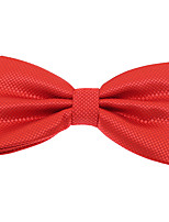 Wedding Men Jacquard Polyester Silk Bow Tie Adjustable