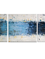 IARTS 3 Sets Group Blue Art Canvas Handpainted Acrylic Paintings Stretchered Ready 2 Hang