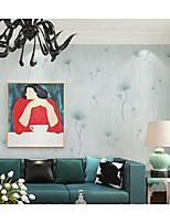 Дамаск / В полоску / 3D Обои Для дома Современный Облицовка стен , Нетканый материал материал Клей требуется обои , номер Wallcovering
