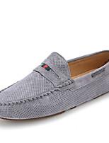 Men's Loafers & Slip-Ons Spring Summer Comfort Suede Casual Flat Heel Split Joint Gray Orange Khaki Others