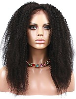 Natural Color Brazilian Virgin Human Hair Afro Kinky Curly Wig Lace Front Wigs 8