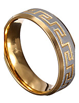 Gold Silver Great Wall 316L Stainless Steel Men Ring Jewelry Gift idea