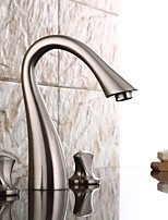 Antique / Traditional / Modern Widespread Widespread Ceramic Valve Two Handles One Hole for  Antique Copper  Bathroom