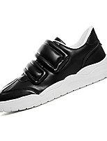 Men's Sneakers Spring / Fall Comfort PU Casual Flat Heel Magic Tape Black / Red / White Sneaker