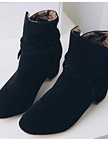 Women's Boots Fall Winter Fashion Boots PU Outdoor Chunky Heel Lace-up Black Yellow Beige Other