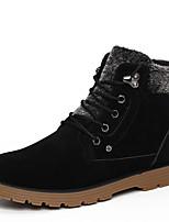 Men's Combat Boots / Flats Leatherette Outdoor Flat Heel Lace-up Black / Blue Snow Boots EU39-43