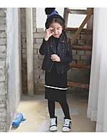 Girl's Casual/Daily Striped SkirtCotton Winter / Fall Black