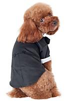 Katzen / Hunde Kostüme / Mäntel / T-shirt / Pullover Schwarz Hundekleidung Winter / Frühling/Herbst einfarbig / Schleife / BritshCosplay