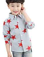 Boy's Casual/Daily Print TeeCotton Fall Blue