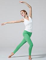 Штаны для йоги Велоспорт Колготки Дышащий Естественный Стреч Спортивная одежда Белый / Зелёный / Чёрный Жен. СпортЙога / Пилатес /