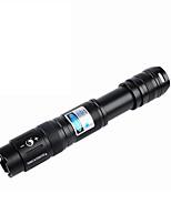 UKING ZQ-J16 blu / torcia elettrica del laser con fuoco regolabile (450nm 5mw nero)