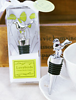 Birds Chrome Bottle Favor-1Piece/Set Bottle Stoppers Garden Theme Non-personalised Silver 11x3x4.7cm Gift box