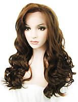 парик шнурка Парики для женщин Коричневый Карнавальные парики Косплей парики