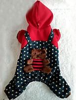 Собаки Плащи / Толстовки Красный Одежда для собак Зима / Весна/осень Классика Праздник / Мода Lovoyager