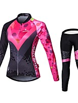 MALCIKLO® Cycling Jersey with Tights Women's Long Sleeve BikeBreathable / Quick Dry / Front Zipper / Wearable / High Breathability