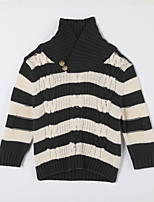 Boy's Casual/Daily Striped Sweater & CardiganCotton Fall Green