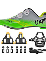 SD004 Cycling Shoes Unisex Road Bike Sneakers Damping / Cushioning Green / Gray-sidebike And ShimanoR550 Rock Pedals