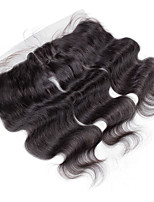 10inch to 20inch Black 4x13 Closure Body Wave Human Hair Closure Light Brown Swiss Lace about 50g gram Average Cap Size