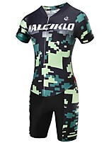 2017Summer New Style MALCIKLO Womens Short Sleeve Camouflage Jerseys Sets Tights Conjoined Cycling Jersey Jumpsuits